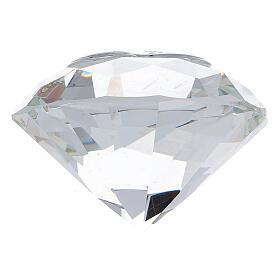 Bomboniera forma diamante Sacra Famiglia s3