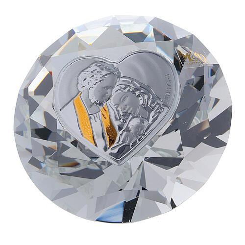 Bomboniera forma diamante Sacra Famiglia 1