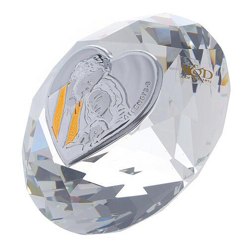 Bomboniera forma diamante Sacra Famiglia 2