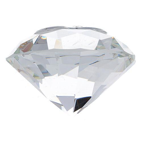 Bomboniera forma diamante Sacra Famiglia 3