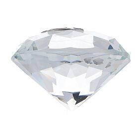Recuerdo Comunión en forma de diamante s3