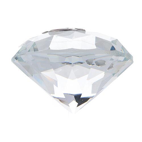 Recuerdo Comunión en forma de diamante 3