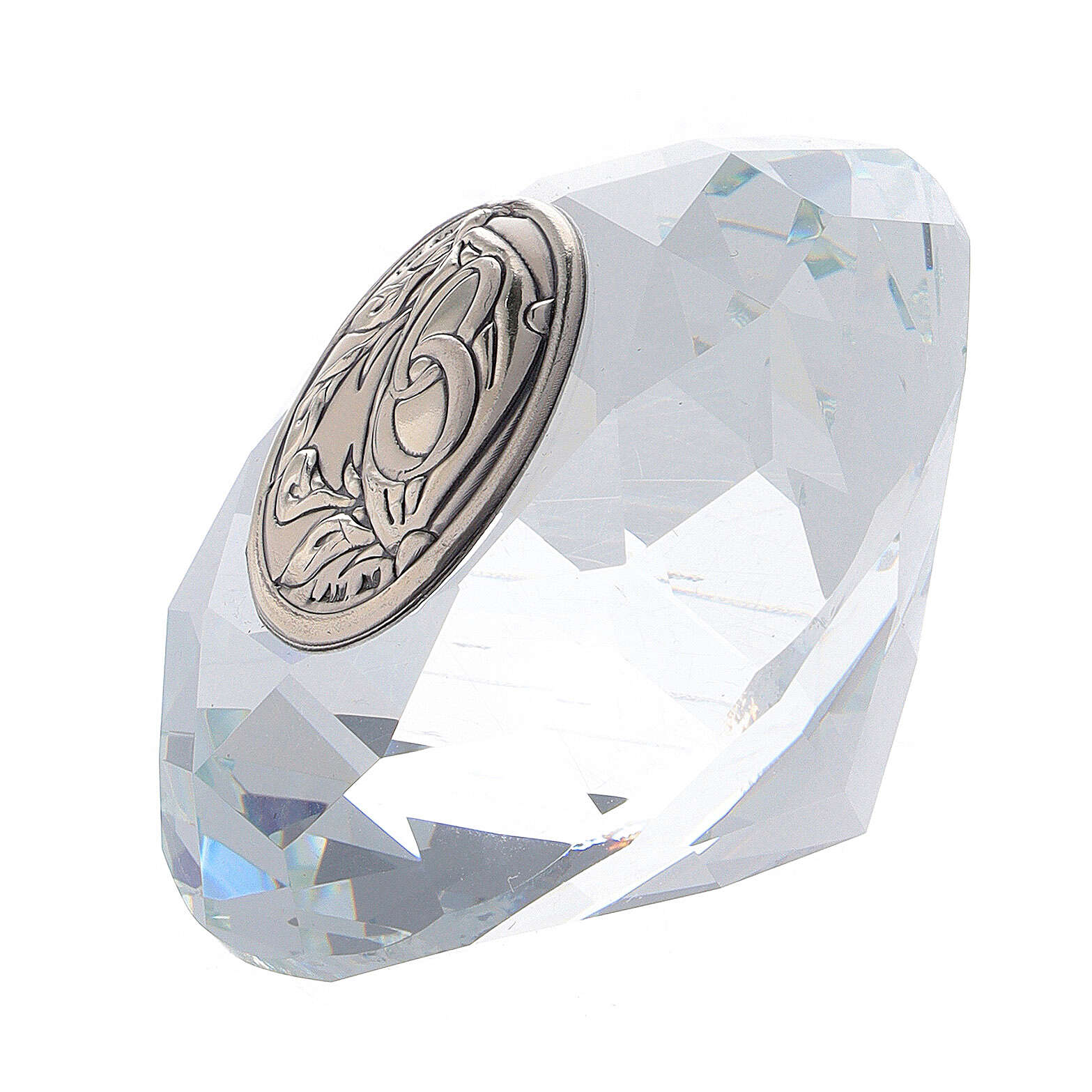 Recuerdo boda vidrio forma diamante 3
