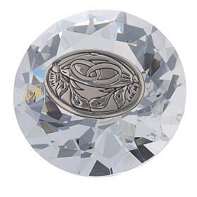 Recuerdo boda vidrio forma diamante s1