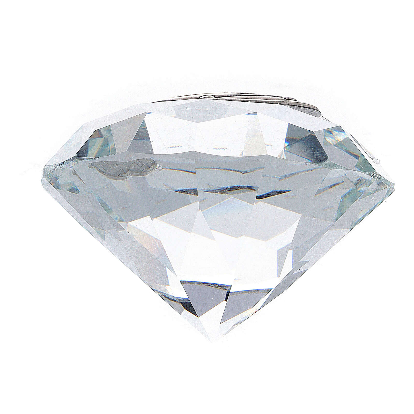 Souvenir mariage verre forme diamant 3