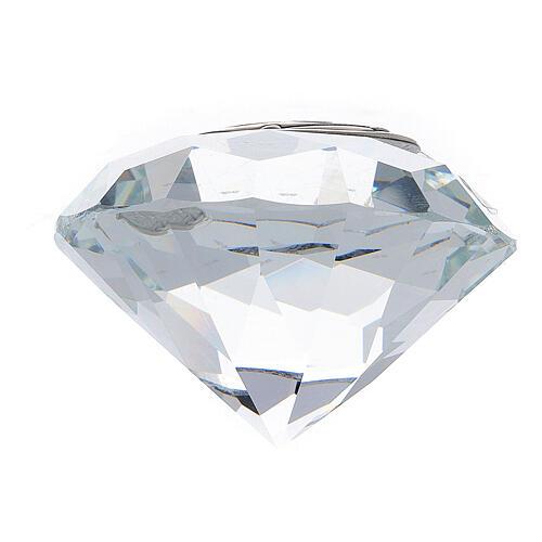 Pamiątka ślubu szkło forma diamentu 3