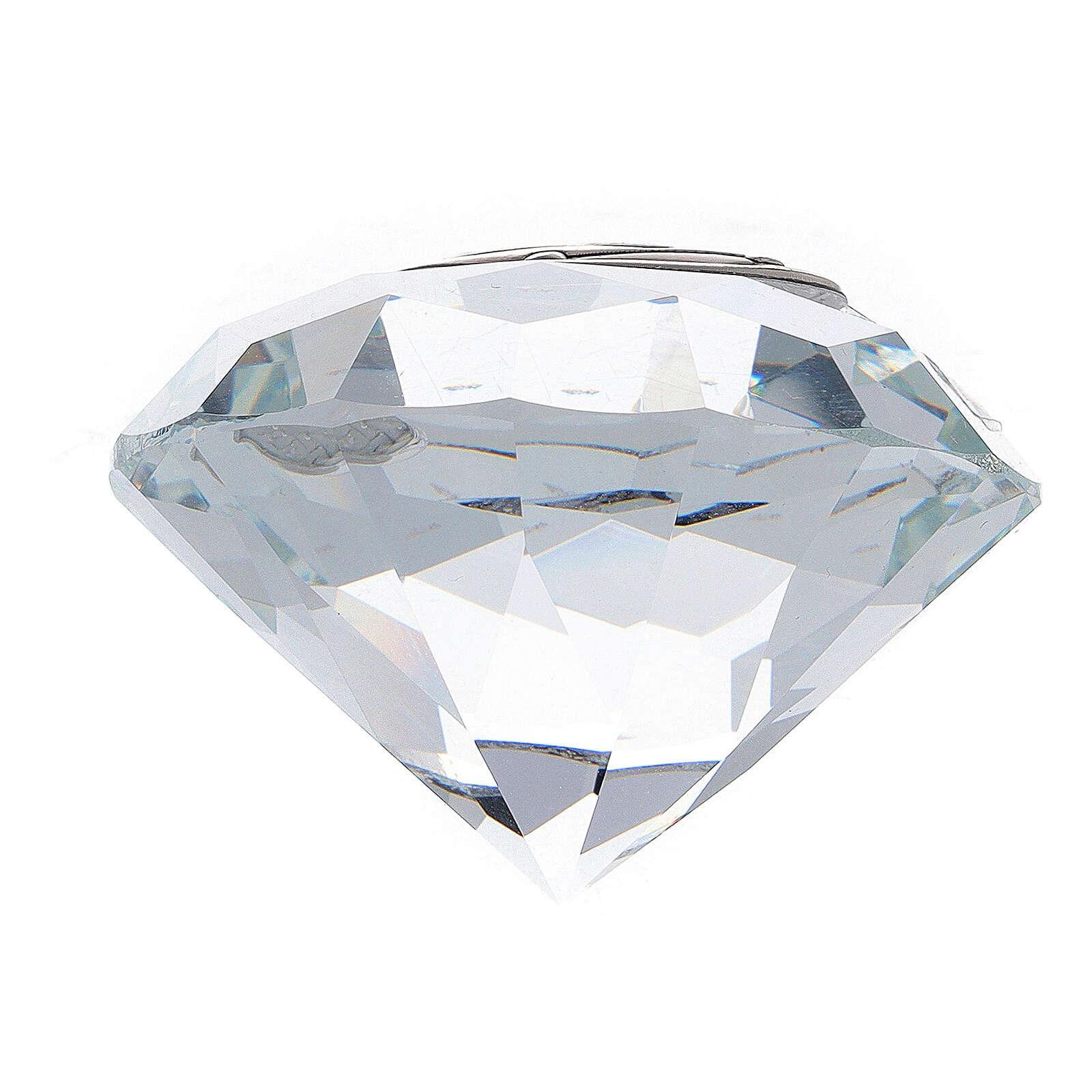 Lembrancinha casamento vidro forma diamante 3