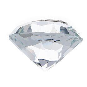 Lembrancinha casamento vidro forma diamante s3