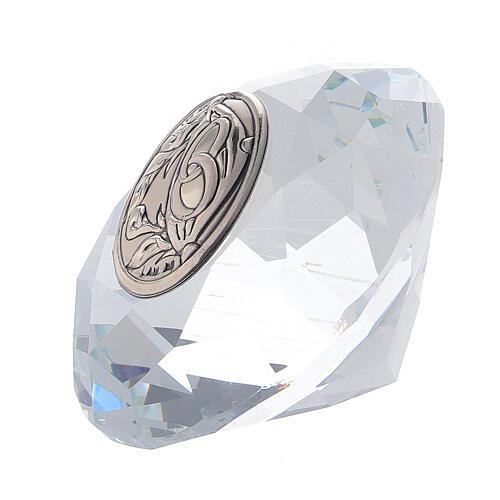 Lembrancinha casamento vidro forma diamante 2