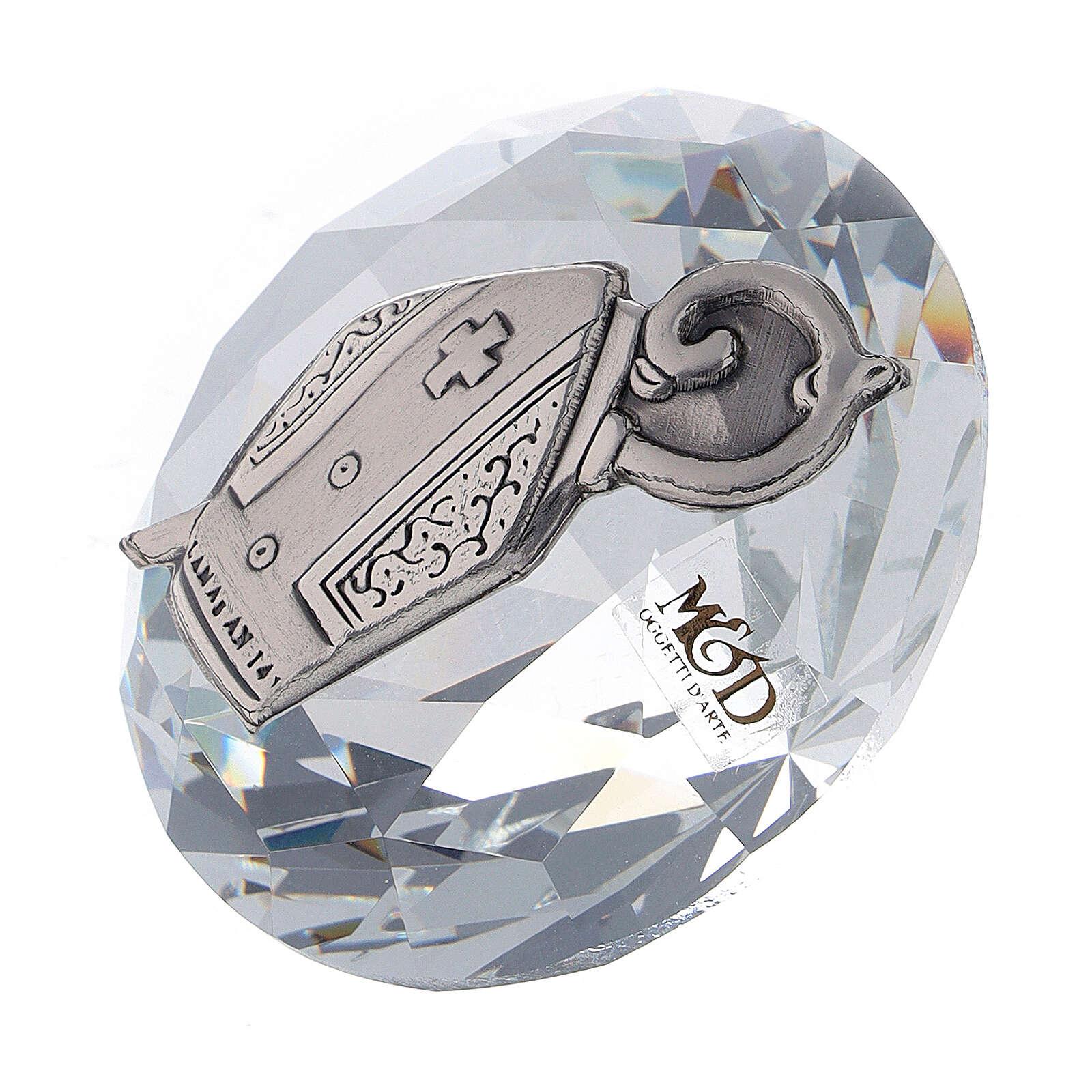 Diamant verre souvenir Confirmation 3