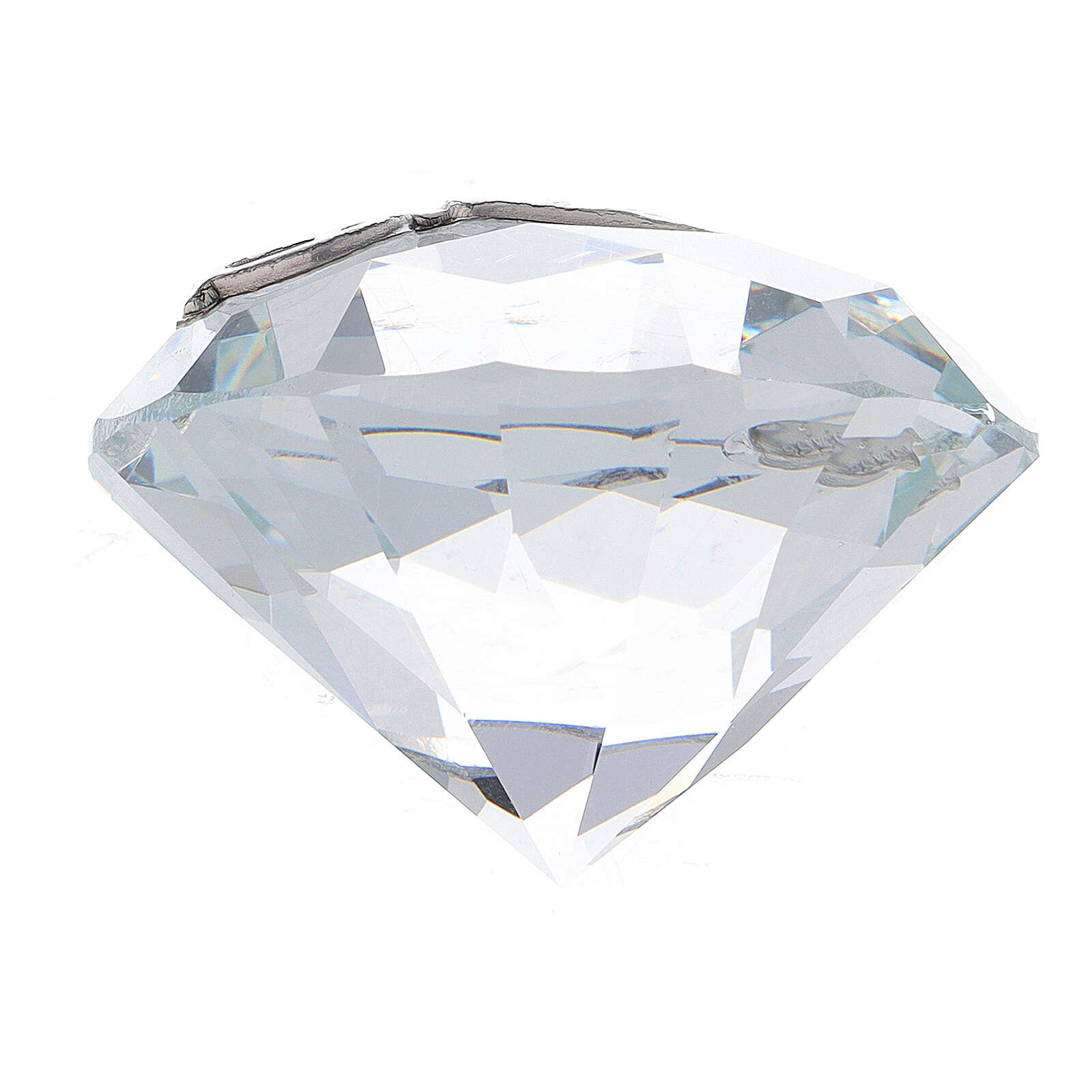 Diamante vetro bomboniera Cresima 3