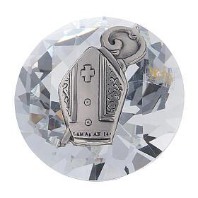 Diamante vetro bomboniera Cresima s1