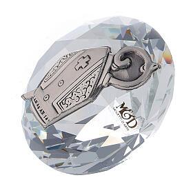 Diamante vetro bomboniera Cresima s2