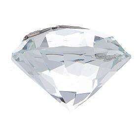 Diamante vetro bomboniera Cresima s3