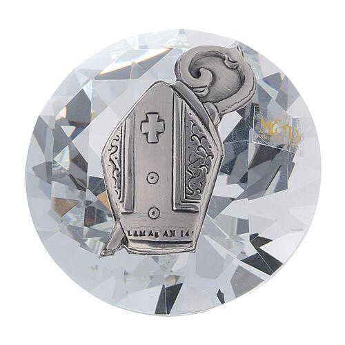 Diamante vetro bomboniera Cresima 1