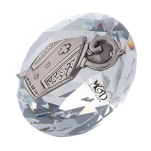 Diamante vetro bomboniera Cresima 2