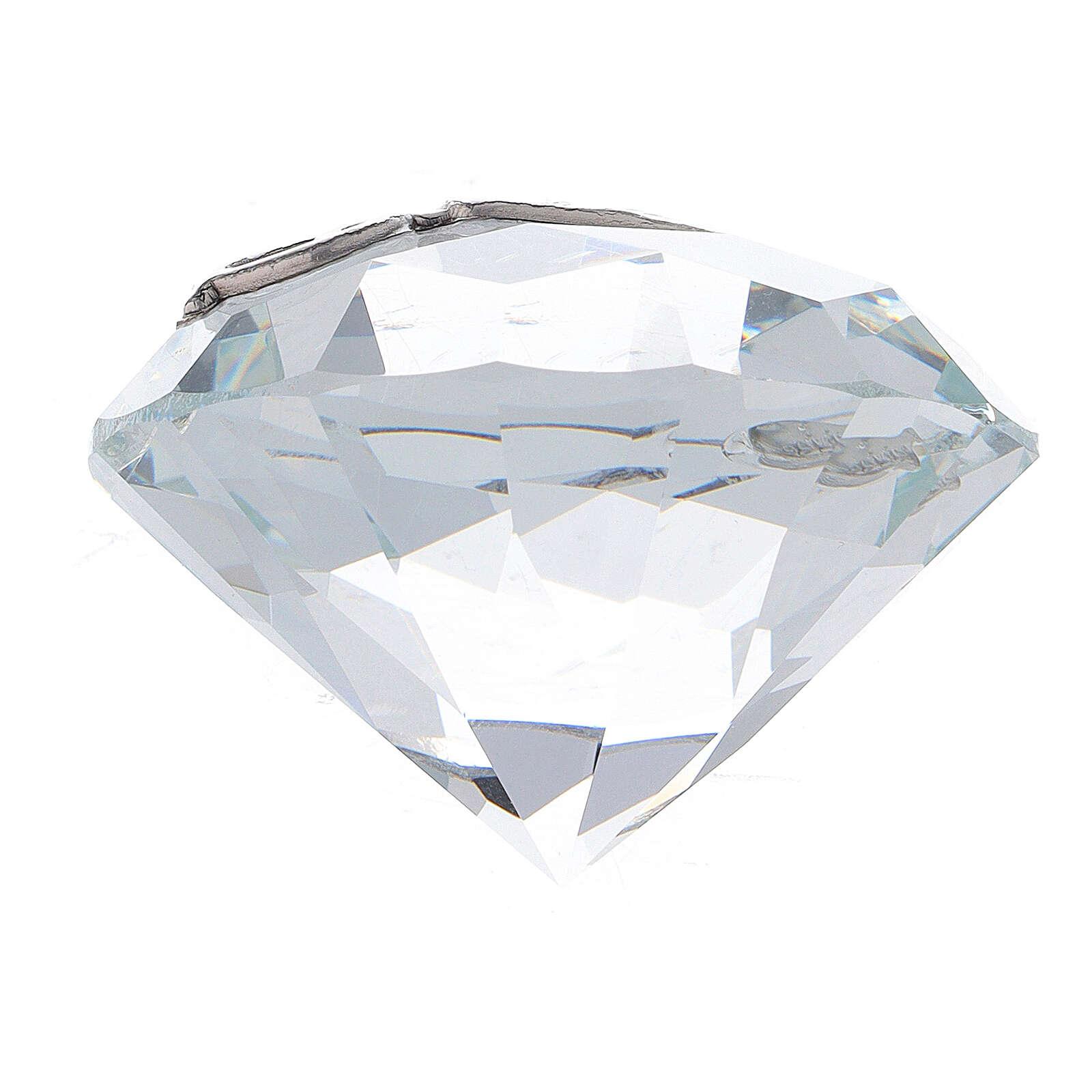 Diamond shaped favor Confirmation 3