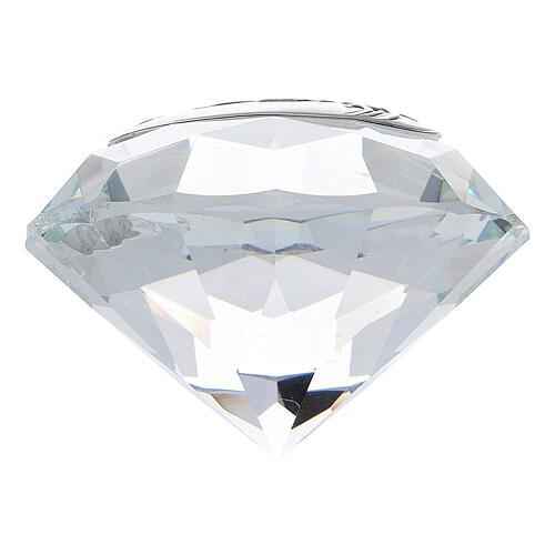 Diamant verre noces d'or souvenir 3
