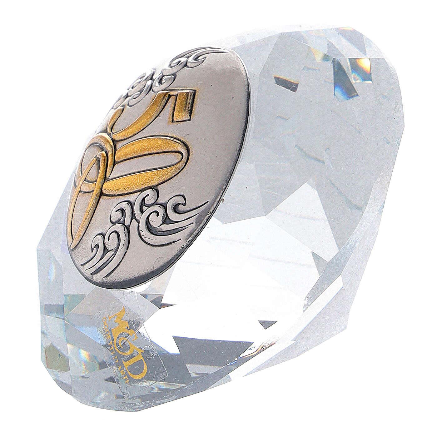 Glass diamond golden wedding favor 3