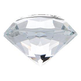 Glass diamond golden wedding favor s3