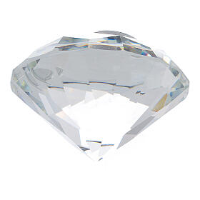 Diamante vetro bomboniera nozze d'argento s3