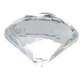 Glass diamond silver wedding favor s3