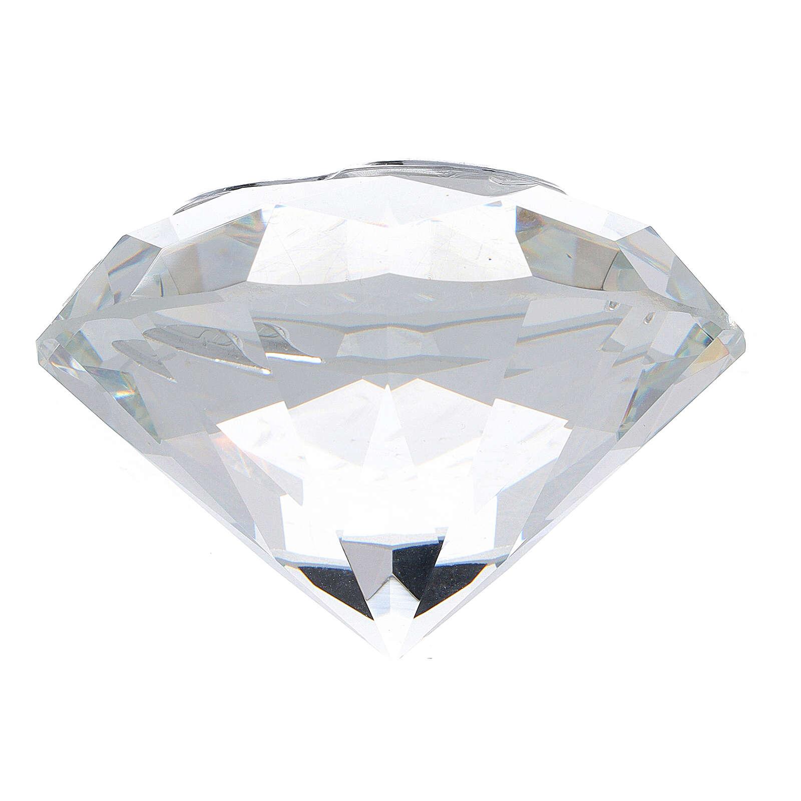 Recuerdo en forma de diamante Confirmación con mitra 3
