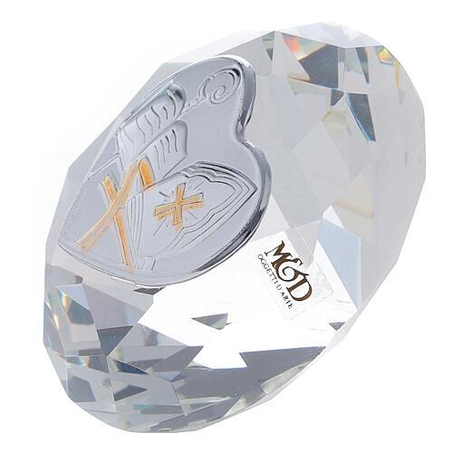 Bomboniera a diamante Cresima con mitra 2