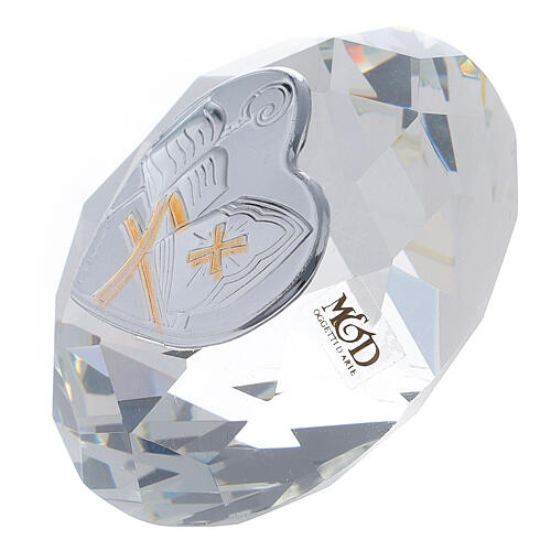 Diamond shaped favor Confirmation with mitre 2
