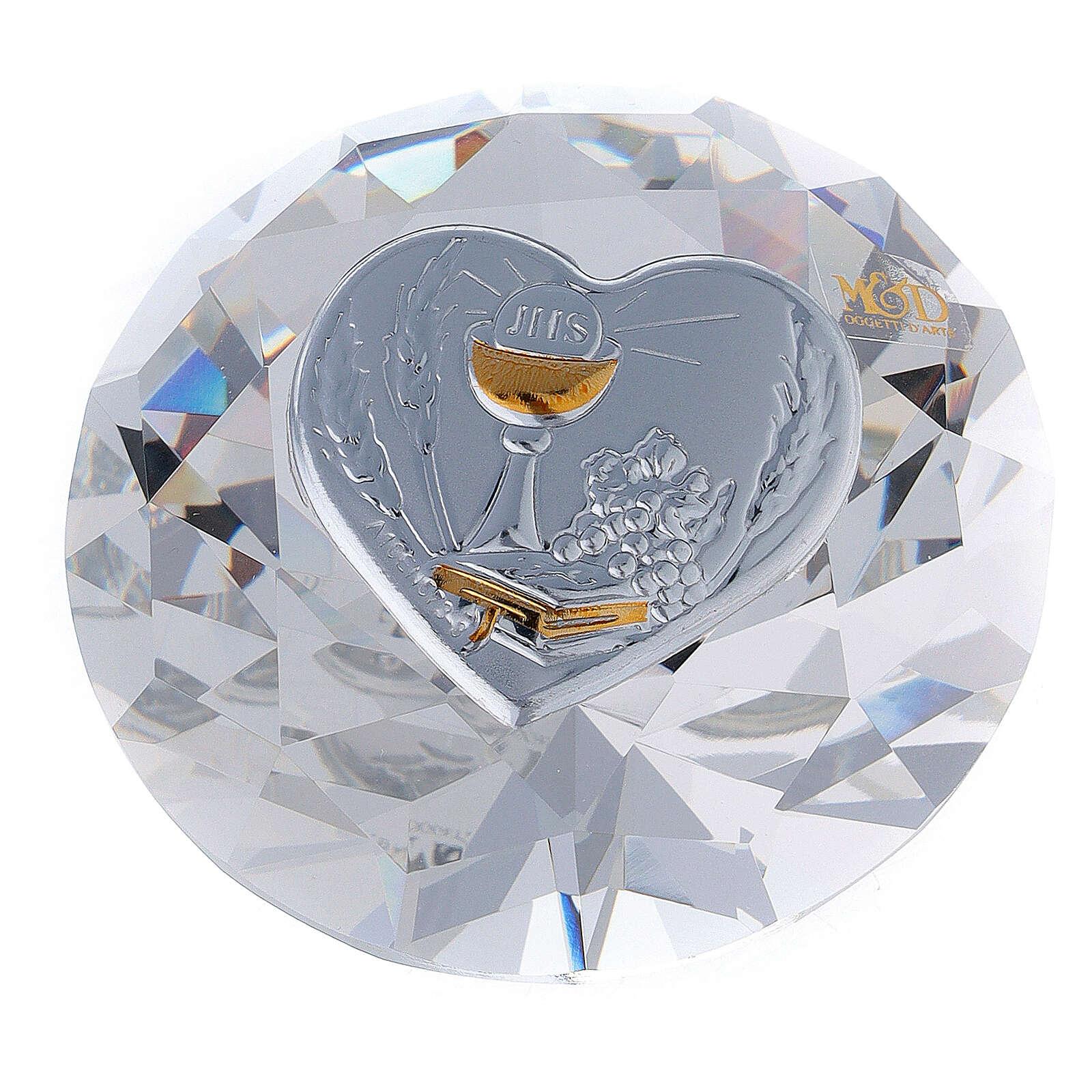 Diamante in vetro placca calice Comunione 3
