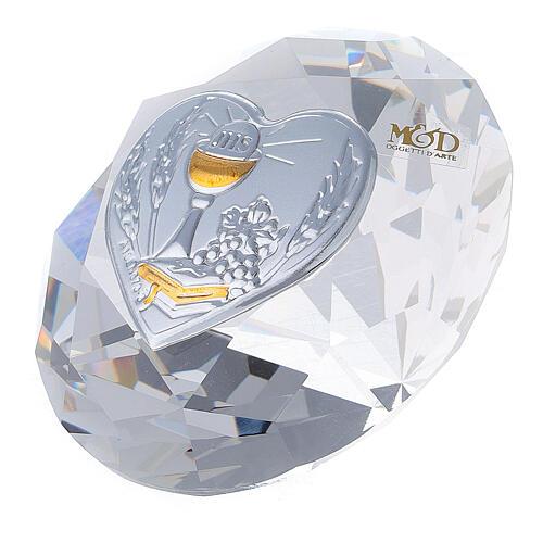 Diamante in vetro placca calice Comunione 4