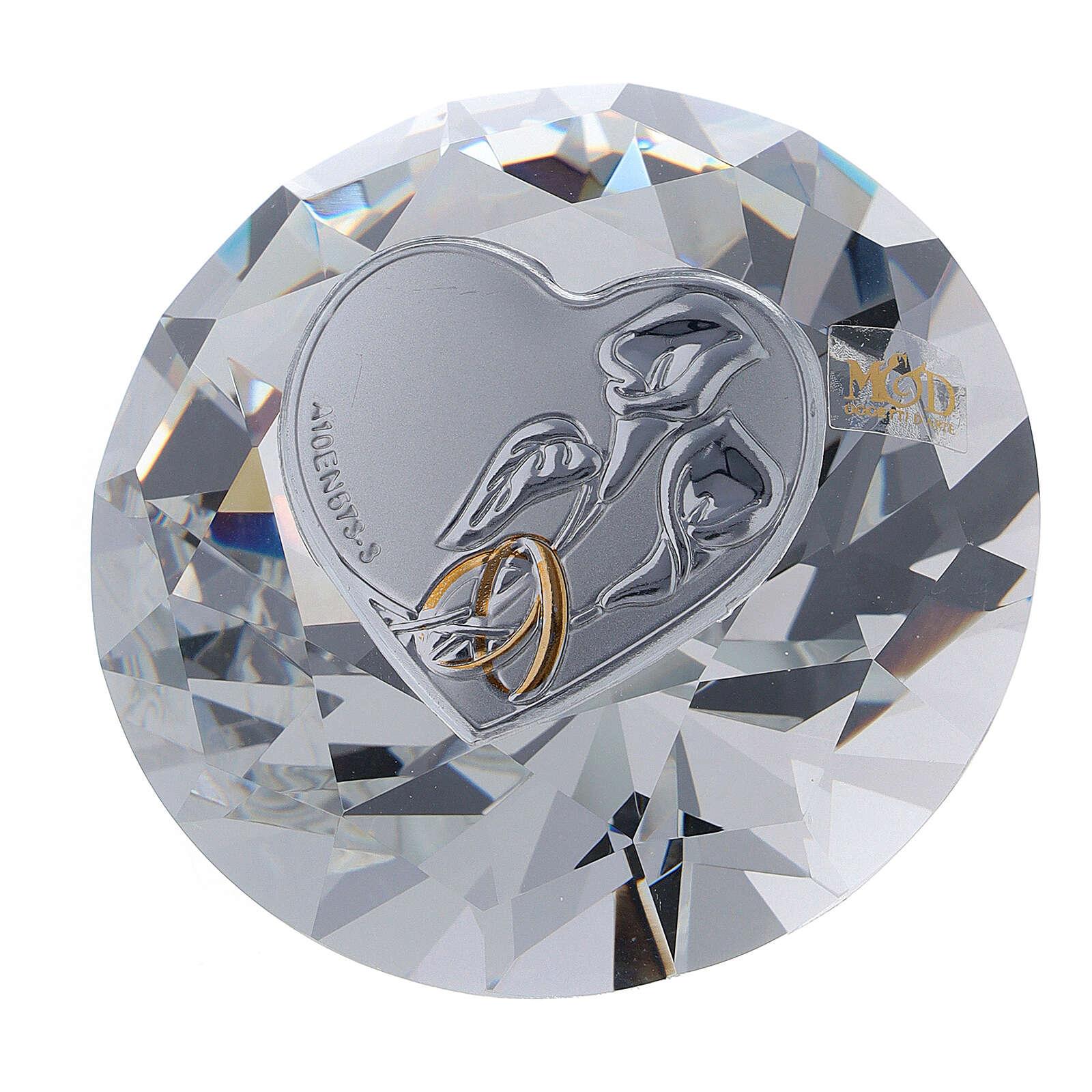 Diamante vidrio recuerdo boda 3