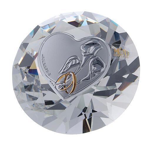 Diamante vidrio recuerdo boda 1
