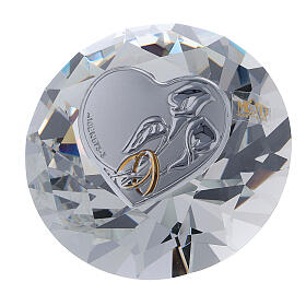 Diamant verre souvenir mariage s1