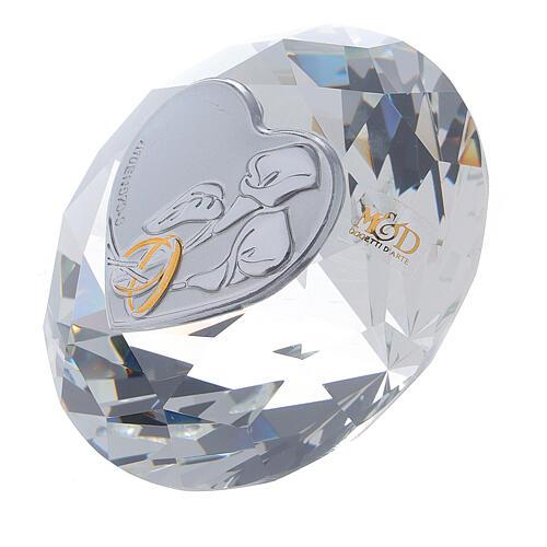 Diamant verre souvenir mariage 2