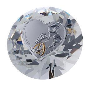 Diamante vetro bomboniera matrimonio s1