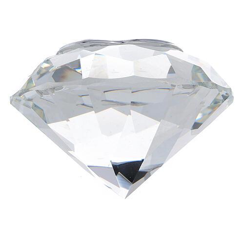 Diamante vetro bomboniera matrimonio 3