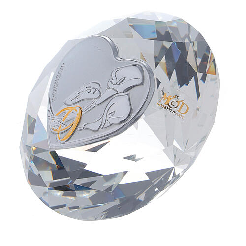 Diamond shaped favor for wedding with calla lilies 2