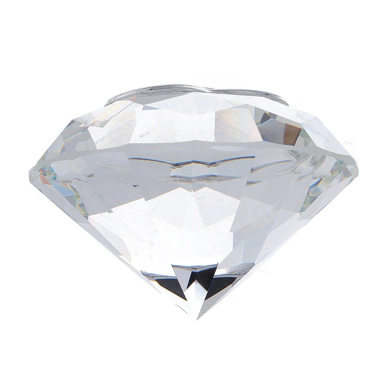 Diamant en verre souvenir maternité 3
