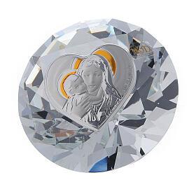 Diamant en verre souvenir maternité s1