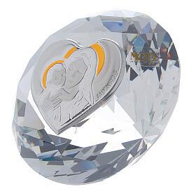 Diamant en verre souvenir maternité s2