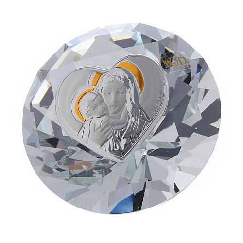 Diamant en verre souvenir maternité 1