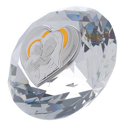 Diamant en verre souvenir maternité 2