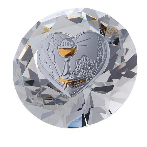 Diamant en verre souvenir maternité 5