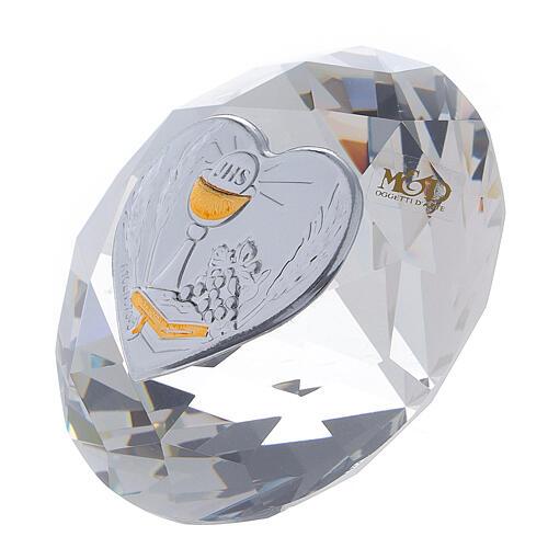 Diamant en verre souvenir maternité 6