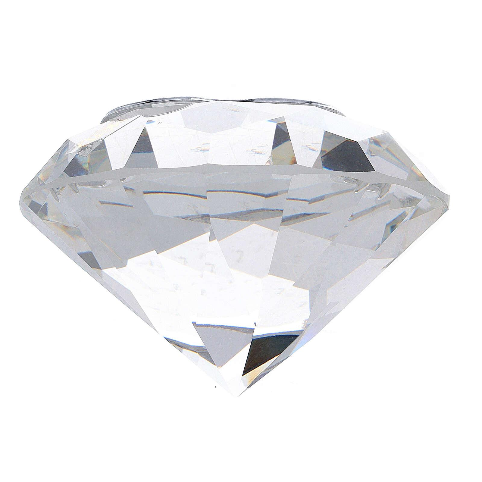 Diamante em vidro lembrancinha maternidade 3