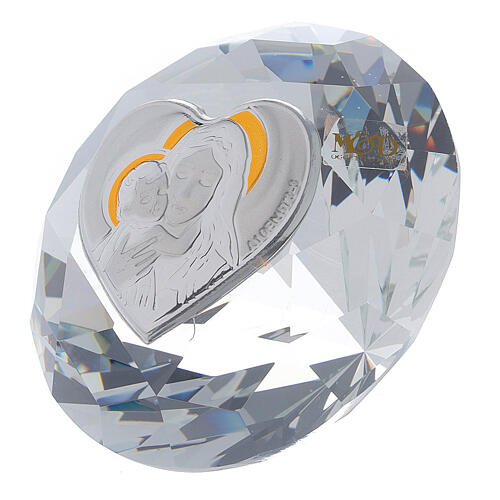 Diamond shaped favor of glass Maternity 2