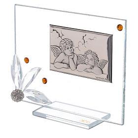 Quadretto Battesimo Swarovski ambra s2