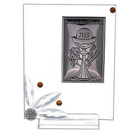 Cuadrito vidrio placa primera Comunión s1