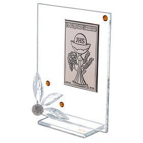 Cuadrito vidrio placa primera Comunión s2